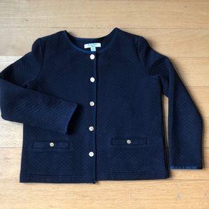Brooks Brothers girls' navy cardigan